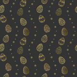 Easter  pattern with eggs. Vector seamless pattern Royalty Free Stock Photos
