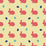 Easter pattern with rabbits and eggs for textures, wrapping, covers. Easter pattern with nice rabbits and eggs for textures, wrapping, covers Stock Illustration