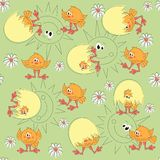Easter pattern seamless Stock Photo