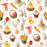 Easter pattern stock photo