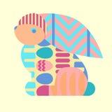 Easter patterned bunny stock illustration