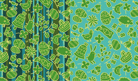 Easter patterns Stock Image