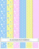 Easter Patterns. A set of seamless easter background patterns. Includes swatches for ease of use Royalty Free Stock Photos