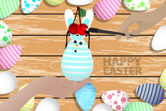 Easter is a perfect illustration for your design Royalty Free Stock Image