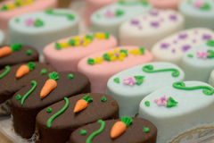 Easter Petit-Four Desserts Royalty Free Stock Photos