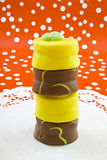 Easter petit fours Stock Photo