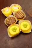 Easter petit fours Stock Photos