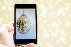 Easter phone greetings Stock Images