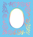Easter photo frame Royalty Free Stock Photography