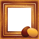 Easter photo frame in style scrapbooking Royalty Free Stock Photo