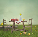 Easter picnic Stock Photography