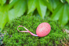 Easter  pink egg with texture of craquelure Stock Image