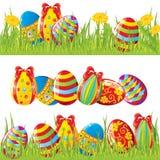Easter pintou ovos ilustração stock