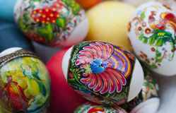 Easter pisanki eggs Stock Images