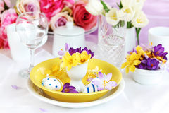 Easter place setting Stock Images