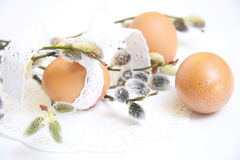 Easter place setting Royalty Free Stock Photos