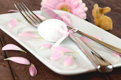 Easter Place Setting With Egg Stock Photos