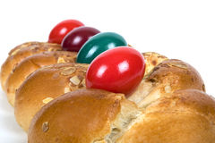 Easter plaited Danish pastry Stock Image