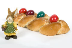 Easter plaited Danish pastry Stock Images