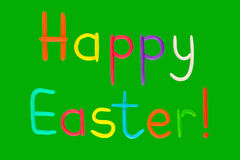 Easter plasticine card Royalty Free Stock Photo