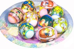 Easter plate Royalty Free Stock Image