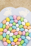 Easter Plate Full of Candy stock photography