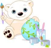 Easter Polar Bear Stock Photos