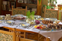 Easter Polish traditional table Stock Image