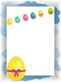 Easter portrait panel copy space with bunting and egg Royalty Free Stock Image