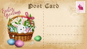 Vector Easter post card Stock Photo