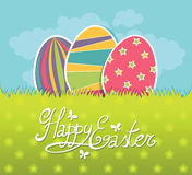 Easter postcard stock illustration