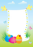 Easter postcard. Easter background for text. Nice postcard Stock Photography