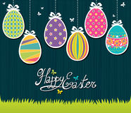 Easter Postcard royalty free illustration