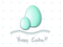 Easter postcard,Easter egg Stock Image