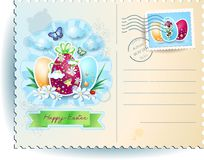 Easter postcard Royalty Free Stock Image