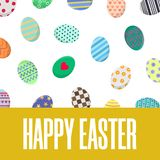 Easter Postcard. Greeting or Invitation with Different Eggs. Vector illustration for Your Design, Web, Print. vector illustration