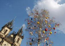 easter prague Royaltyfria Bilder