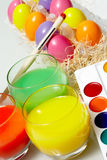 Easter preparations Royalty Free Stock Images