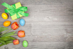 Easter present and dekoration Royalty Free Stock Photo