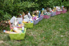 Easter Presents In The Garden