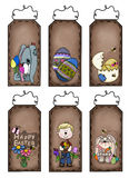 Easter prim tags Stock Image