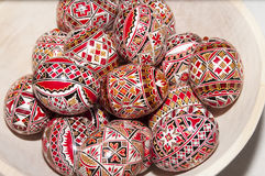 Easter Printed Eggs Royalty Free Stock Images
