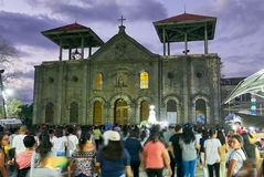 Easter procession around the church of Leon, Philippines royalty free stock images
