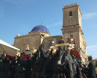 Easter procession in Elche, Alicante, Valencia. Spain Royalty Free Stock Images