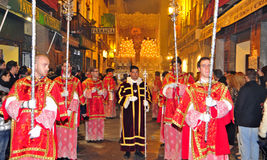 Easter Procession in Granada, Spain Royalty Free Stock Photos