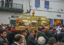 Easter Procession of the Lord of Tremors in Cusco Stock Image