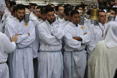 Easter Procession in Malaga, Spain Royalty Free Stock Photos