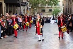 Easter procession in Palma de Mallorca royalty free stock image