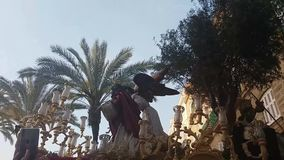 Easter processions in Cadiz. stock video
