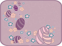 Easter purple card. Royalty Free Stock Photo